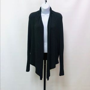 Eileen Fisher Gray Open Front Cardigan
